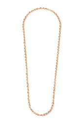 Forever 21 Rope Chain Necklace Rose Gold