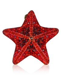 Judith Leiber Fromia Starfish Crystal Clutch Bag Red