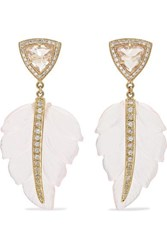 Jacquie Aiche 14 Karat Gold Multi Stone Earrings