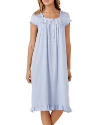 Eileen West Cotton Jersey Waltz Nightgown Grey