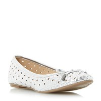 Head Over Heels Horizon Woven Ballet Pumps Silver