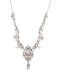 Marchesa Bohemian Dream Swarovski Crystals Y Necklace Silver