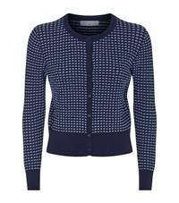 Sandro Andrey Textured Cardigan Female Blue