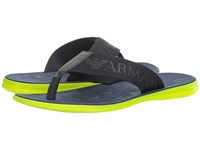 Emporio Armani Logo Thong Sandal Night Men's Sandals Black