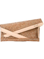 Zanellato Gold Tone Hardware Envelope Clutch Nude And Neutrals