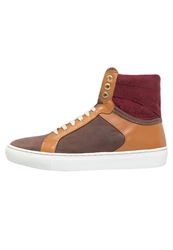 Boom Bap Karma Hightop Trainers Camel Bordeaux Beige