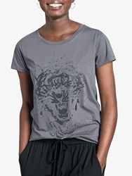 Hush Tiger Glitter Cotton Tee Slate