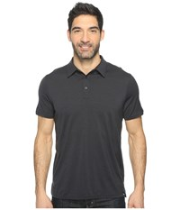 Smartwool Merino 150 Pattern Polo Charcoal Men's Clothing Gray