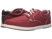Sebago Mason Lace Up Red Canvas Leather Men's Shoes Brown