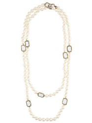 Chanel Vintage Faux Pearl Necklace White
