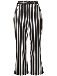 Marc Jacobs Cropped Stripe Trousers Black
