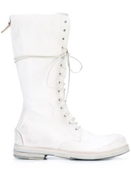 Marsell Mid Calf Zipped Boots White