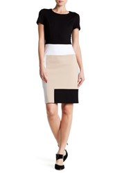 Nue By Shani Colorblock Knit Dress Black