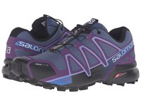 Salomon Speedcross 4 Cs Slateblue Cosmic Purple Black Women's Shoes Gray