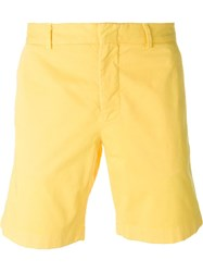 Msgm Straight Leg Bermuda Shorts Yellow And Orange