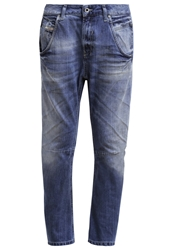 Diesel Fayza Relaxed Fit Jeans 0840L Bleached Denim