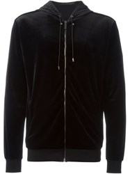 Versace Medusa Velvet Zipped Up Cardigan Black