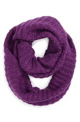Women's Collection Xiix Ribbed Loop Scarf Purple Kazoo Purple