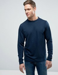 Bellfield Sweatshirt With Open Hem Navy