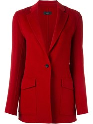 Joseph Single Breasted Blazer Red