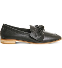 Office Possum Leather Loafers Black Leather