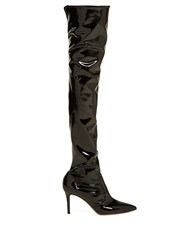 Gianvito Rossi Over The Knee 85 Boots Black