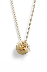Marc Jacobs Women's Coin Pendant Necklace Gold