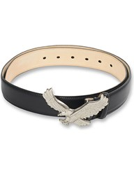 Off White C O Virgil Abloh Eagle Leather Belt Black