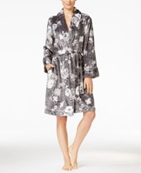 Charter Club Super Soft Printed Robe Only At Macy's Grey Floral
