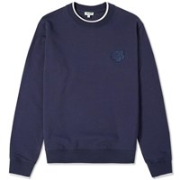 Kenzo Tipped Tiger Crew Sweat Blue