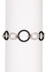 Alor 18K White Gold And Diamond Stainless Steel Cable Link Bracelet 0.44 Ctw Black