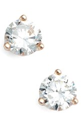 Women's Nordstrom Precious Metal Plated 1Ct Tw Cubic Zirconia Earrings Rose Gold