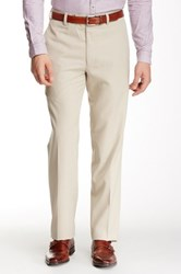 Louis Raphael Straight Fit Pin Dot Pant 30 34' Inseam Gray