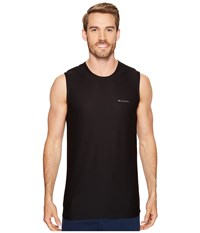 Columbia Diamond Mesh Muscle Tee Black Men's T Shirt