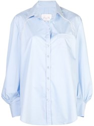 Johanna Ortiz Piped Shirt Blue
