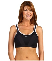 Shock Absorber Max Sports Bra B4490 Black White Women's Bra