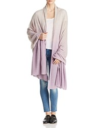 Bloomingdale's C By Dip Dye Lightweight Cashmere Travel Wrap 100 Exclusive Cement