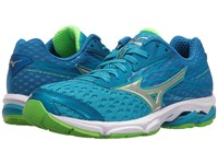 Mizuno Wave Catalyst 2 Atomic Blue Green Gecko White Women's Running Shoes