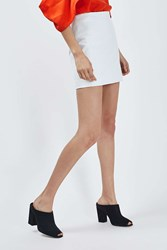 Boutique Leather Mini Skirt By White