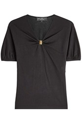Salvatore Ferragamo Draped Top With Silk And Cotton