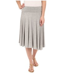 Bobeau Carrie Knit Circle Skirt Heather Grey Women's Skirt Gray