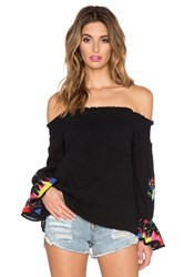 Vava By Joy Han Dottie Off The Shoulder Top Black