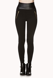 Forever 21 Bombshell Riding Pants Black