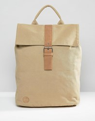 Mi Pac Canvas Day Pack Backpack Sand Stone Beige