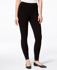 Styleandco. Style And Co. Lace Hem Capri Leggings Only At Macy's Deep Black