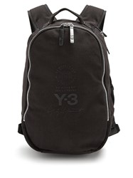 f209437ed4a6 Y 3 Canvas Backpack Black