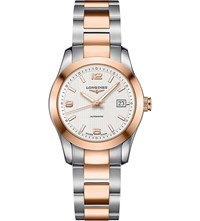 Longines Conquest Stainless Steel And Rose Gold Plated Watch