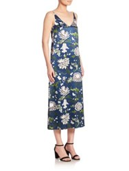 Adam By Adam Lippes Printed Cami Dress Blue Floral