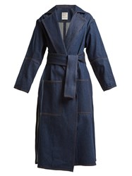 Maison Rabih Kayrouz Notch Lapel Denim Coat