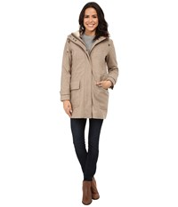 Cole Haan 4 In 1 Hooded Parka With Removable And Reversible Liner Bomber Jacket Maple Sugar Women's Coat Taupe
